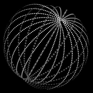 An illustration of a Dyson swarm