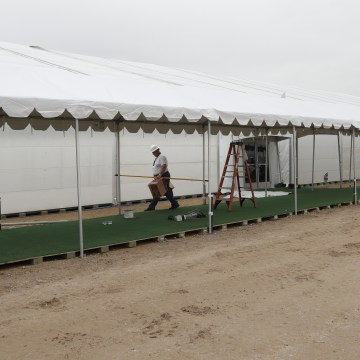 IMAGE: CBP holding facility in Donna, Texas