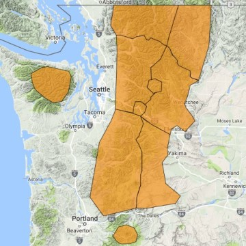 IMAGE: Northwest avalanche threat map