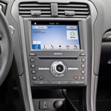 Image: Ford and Amazon team up to offer consumers the ability to access their car from home, and call up other features from their vehicle via Alexa