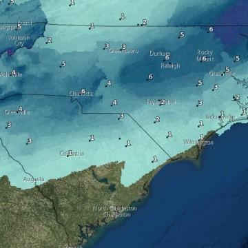 IMAGE: Snow forecast map