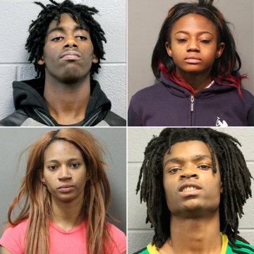 Image: (Top, L-R): Jordan Hill, Brittany Covington (Bottom, L-R): Tanishia Covington, Tesfaye Cooper