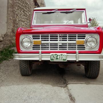 Image: A 1966 Ford Bronco Wagon.