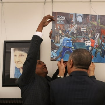 Image: Congressional Black Caucus Returns Controversial Painting  To Capitol Hill