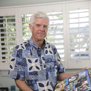 Image: Chris McLachlin is seen at his house on Jan. 4 in Honolulu, Hawaii.