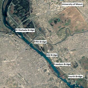 Image: The five bridges of Mosul