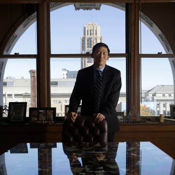 Image: California Supreme Court Justice Goodwin Liu poses for photographs in his office in San Francisco, Friday, Jan. 13, 2017.