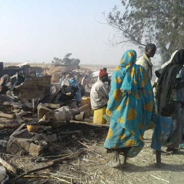 Image: Bombing attack of an internally displaced persons camp in Rann