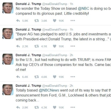 Trump attacks NBC jobs story