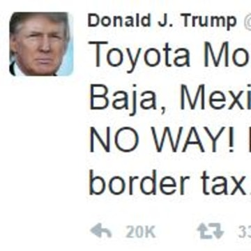 Trump attacks companies who manufacture in Mexico