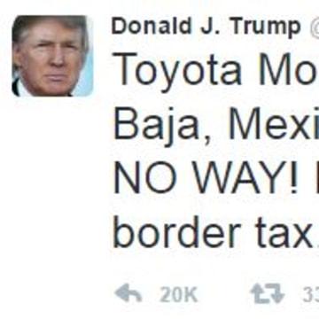 Trump attacks companies who manufacture in Mexico