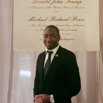 Image: Diante Johnson, a young black Republican, attended a gala honoring President-elect Donald Trump