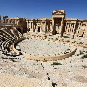 Image: The Roman Theatre in the ancient city of Palmyra