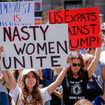 Australians Take Part In Women's Marches To Protest Trump Inauguration TBC