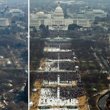 Image: Trump, Obama inaugurations