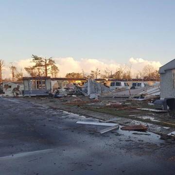 IMAGE: Georgia mobile home park damage