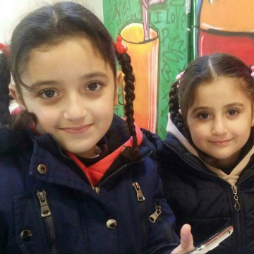 Image: Fadi Kassar's daughters Hana, 8, and Lian, 5, are Syrians who had valid visas to enter the United States, but were denied entry due to Trump's immigration ban on Saturday.