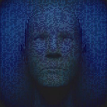 Image: Head In Binary Code