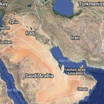Image: A map of Iran and the wider Middle East