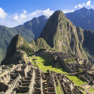 Latin America, Cusco Region, Peru, Remains of Machu Picchu