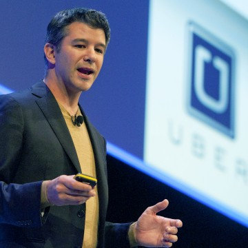 Image: Travis Kalanick, Founder and CEO of Uber, delivers a speech at the Institute of Directors Convention at the Royal Albert Hall, Central London on Oct 3, 2014.