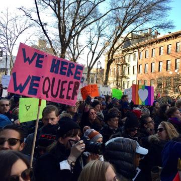 IMAGE: New York LBGTQ protest