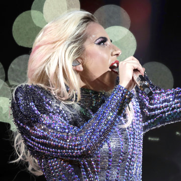 Lady Gaga performs during the halftime show of the NFL Super Bowl 51