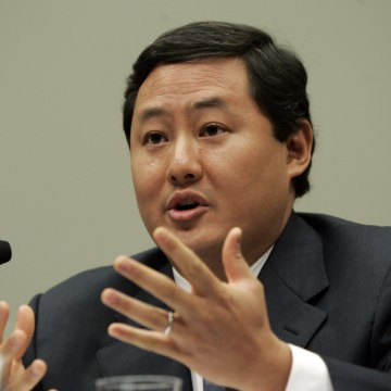 Image: John Yoo testifies on Capitol Hill in Washington, D.C. in this June 26, 2008 file photo.