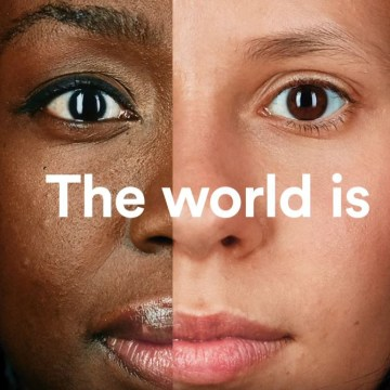 Image: A screen grab from the AirBnB Super Bowl commercial, #WeAccept.