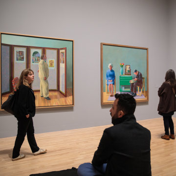 Image: Extensive Exhibition Of David Hockney Paintings Previews At The Tate Britain