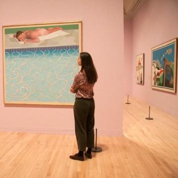 Image: David Hockney Retrospective at Tate Britain, London, UK - 06 Feb 2017