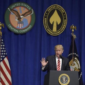 Image: Donald Trump at MacDill Air Force Base