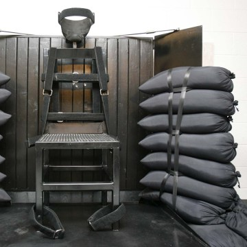 Image: A firing squad execution chamber at a state prison in the United States is pictured in this file photo from June 18, 2010.