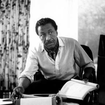 Image: Gordon Parks, a professional photographer, author, poet and composer, is seen in Hollywood, California on April 4, 1968.