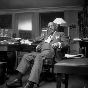 Image: Author, sociologist, historian and civil rights activist W. E. B. Du Bois poses for a portrait at home at 31 Grace Court in Brooklyn Heights in 1959 in New York City.