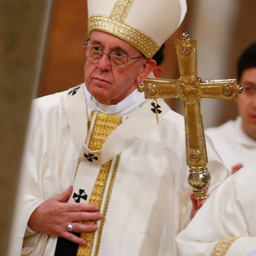 Image: Pope Francis celebrates a mass in Rome on Jan. 21.