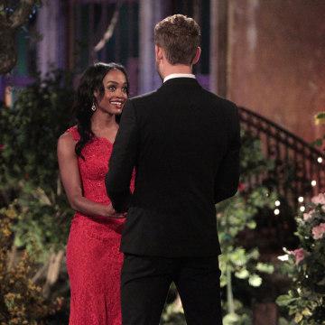 Image: Rachel Lindsay is shown on the season premiere of this seasons The Bachelor with Nick Viall.