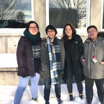 "Rhode Island School of Design seniors Jean Wei, Mariel Rodriguez, Hanna Cha and Michelle Zhuang came up with the concept of ""Permanent Alien"" after long discussions about Asian American identity."