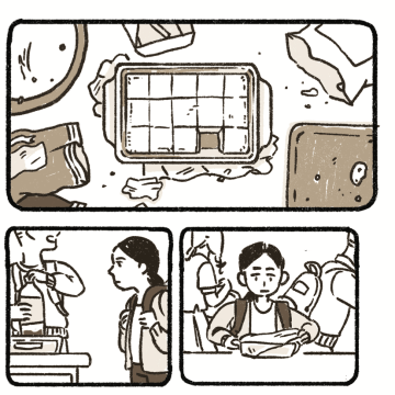 A section from Jean Wei's comic Nian Gao.