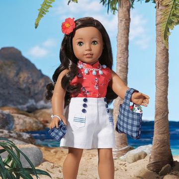 Nanea Mitchell, the new Native Hawaiian American Girl doll.