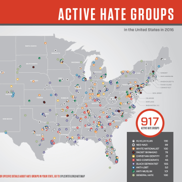 IMAGE: Chart of alleged hate groups
