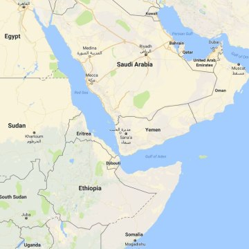 Image: Map showing Yemen