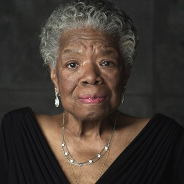 "Dr. Maya Angelou on the set of ""Oprah's Master Class,"" circa January 2011."