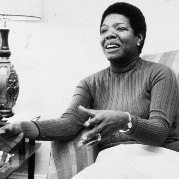 Dr. Maya Angelou, circa late 70s/early 80s.