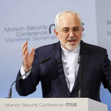Image: Iranian Foreign Minister Mohammad Javad Zarif delivers his speech during the 53rd Munich Security Conference in Munich