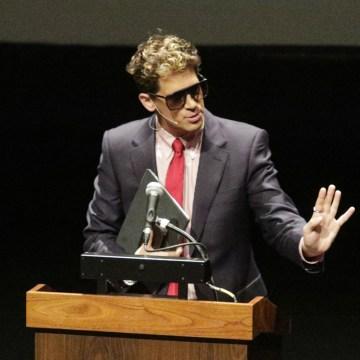 Image: Milo Yiannopoulos, the polarizing Breitbart News editor, speaks at California Polytechnic State University
