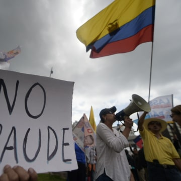 Image: ECUADOR-ELECTION-RESULTS-PROTEST