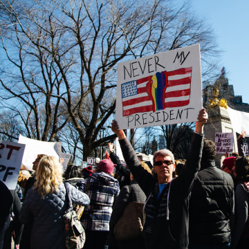 Image: Marchers in New York