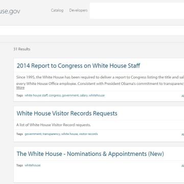 Image: White House Open Portal on Jan. 28, 2017