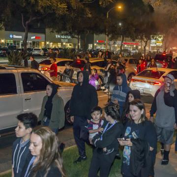 Image: Anaheim police protest